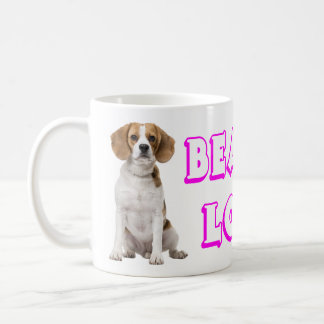 Beagle Puppy Dog - Pink Purple Love Beagles Coffee Mug