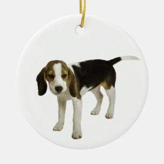 Beagle Puppy Dog Round Ceramic Decoration