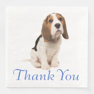 Beagle Puppy Dog Wedding Party Thank You Paper Napkin