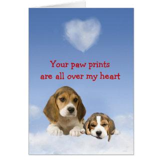 Beagle Puppy Love Card
