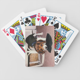 Beagle Puppy playing cards