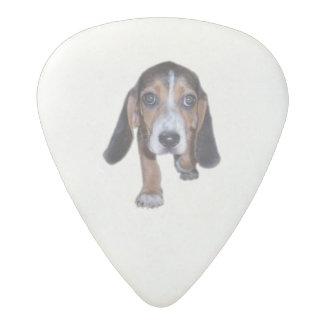 Beagle Puppy Walking - Pick Your Background Color Acetal Guitar Pick