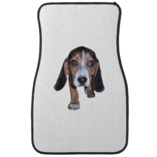 Beagle Puppy Walking - Pick Your Background Color Floor Mat
