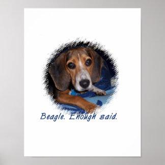 Beagle Puppy With Attitude - Custom Background Print