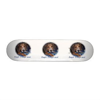 Beagle Puppy With Attitude - Custom Background Skate Board