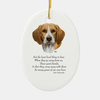 Beagle Rainbow Bridge Christmas Ornament