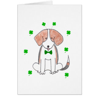 Beagle Saint Patricks Day Card