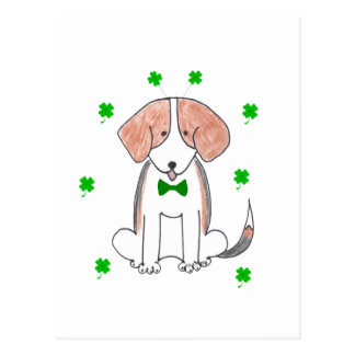 Beagle Saint Patricks Day Postcard