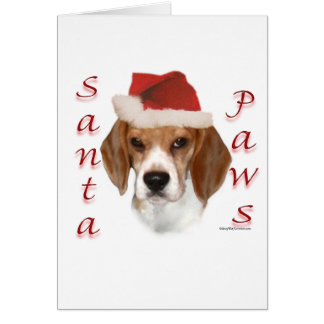 Beagle Santa Paws Greeting Card