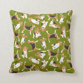 beagle scatter green cushion