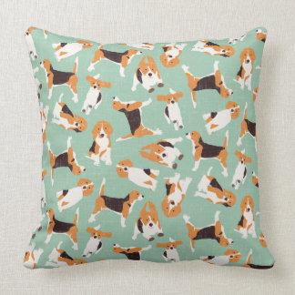 beagle scatter mint cushion