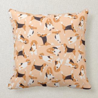 beagle scatter peach cushion