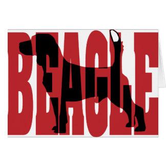 Beagle Silhouette Greeting Card
