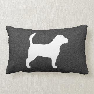 Beagle Silhouette Lumbar Cushion