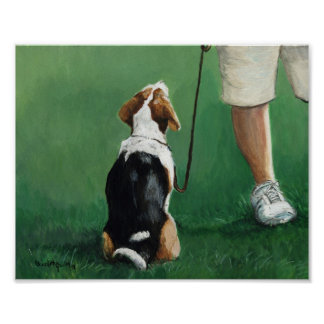 Beagle Sit Art Print