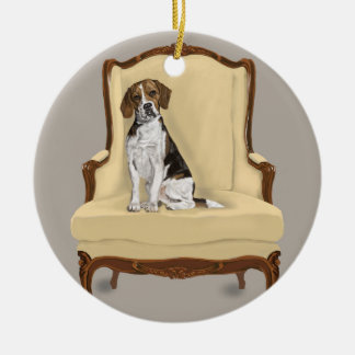 Beagle Sitting Pretty Christmas Ornament