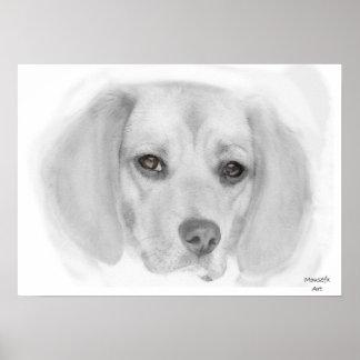 Beagle Sketch Poster
