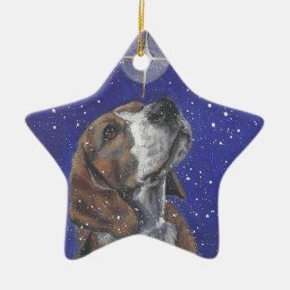 beagle star xmas ornament
