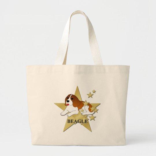 Beagle Stars Large Tote Bag