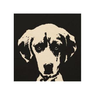 """Beagle Stencil Wood 8""""x8"""" Wall Art"""