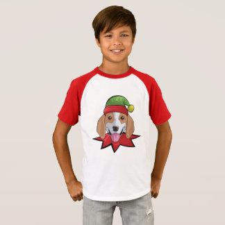 Beagle T-Shirt Funny Elf Christmas Gift Shirt