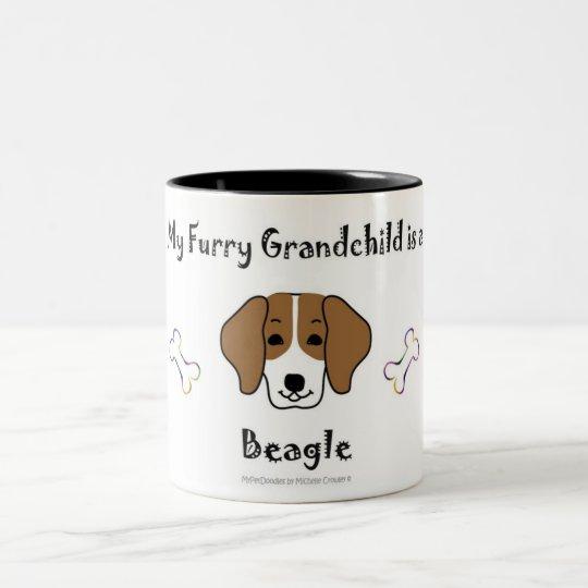 beagle Two-Tone coffee mug
