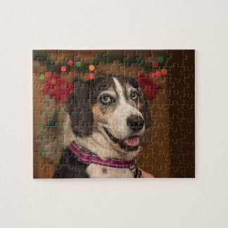 Beagle Walker Hound Dog Christmas Puzzle