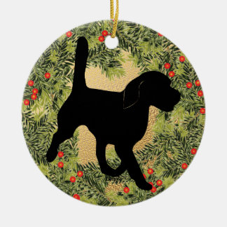 Beagle Wreath Christmas Ornament