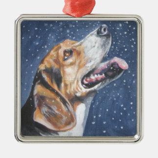 beagle xmas ornament