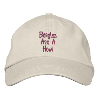 Beagles Are A Howl Cute Embroidered Cap