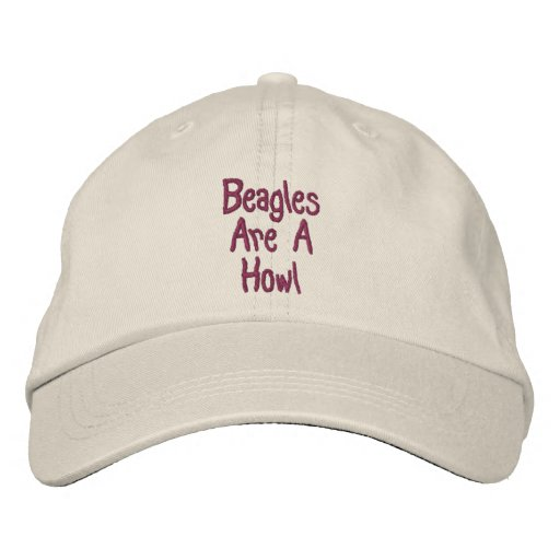 Beagles Are A Howl Cute Embroidered Cap Embroidered Baseball Caps