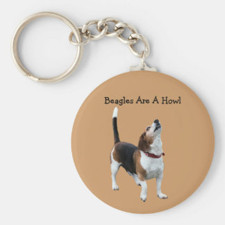 Beagles Are A Howl Funny Dog Keychain
