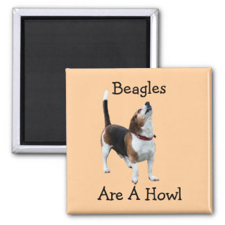 Beagles Are A Howl Funny Dog Magnet