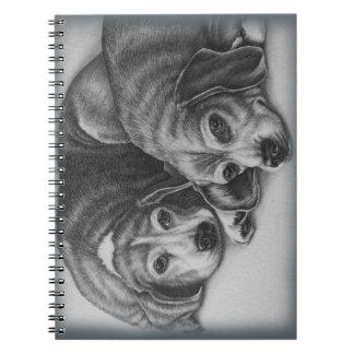 Beagles Drawing Dog Animal Art Note Book