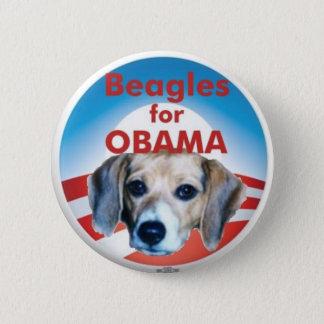Beagles for Obama 6 Cm Round Badge