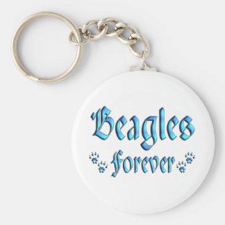 Beagles Forever Key Ring