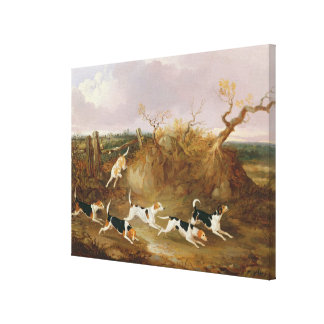 Beagles in Full Cry, 1845 (oil on canvas) Gallery Wrapped Canvas