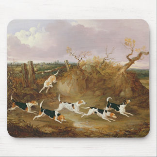 Beagles in Full Cry, 1845 (oil on canvas) Mouse Mat