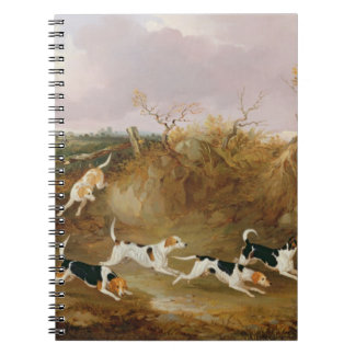 Beagles in Full Cry, 1845 (oil on canvas) Spiral Notebook