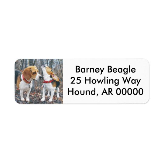 Beagles In The Woods Return Address Label