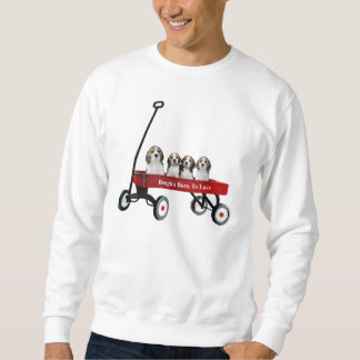 Beagles In Wagon Unisex Sweatshirt