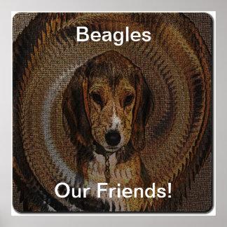 Beagles Our Friend Canvas Print