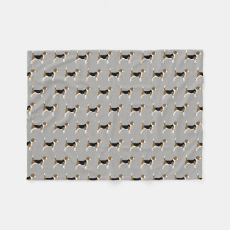 Beagles Pattern Grey Fleece Blanket