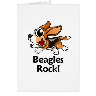 Beagles Rock! Greeting Card