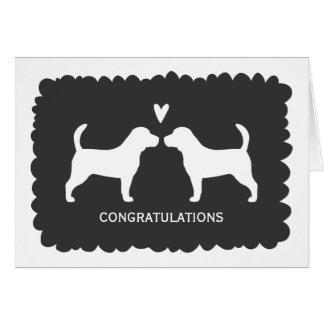 Beagles Wedding Congratulations Note Card
