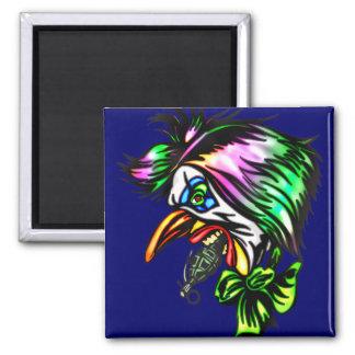 Beak Nose Evil Clown Square Magnet