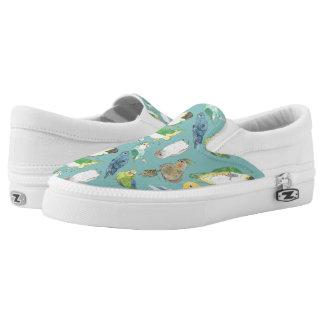 Beaky Birds Flock Slip On Shoes