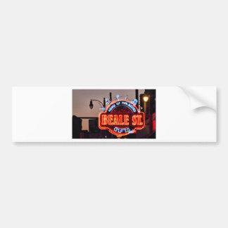 Beale Street Car Bumper Sticker