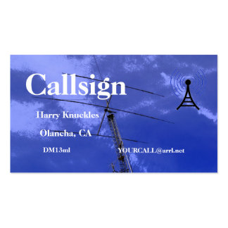 Beam and Tower Amateur Radio Call Sign Business Card Templates