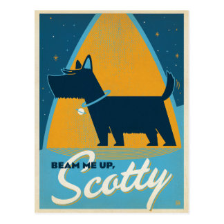 Beam Me Up Scotty Postcard